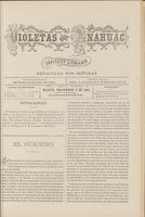 Violetas del Anáhuac, Año 1, Tomo 1, Número 52, 1888-12-02
