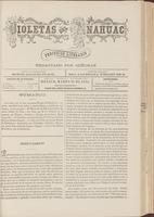 Violetas del Anáhuac, Año 1, Tomo 1, Número 17, 1888-03-25