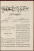 Violetas del Anáhuac, Año 1, Tomo 1, Número 54, 1888-12-16