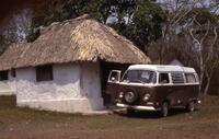 Xpuhil, camp with Volkswagen