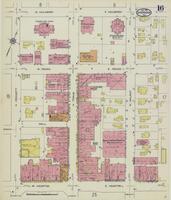 Sanborn Fire Insurance Maps Sherman, Texas, 1914, Sheet 16