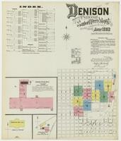 Sanborn Fire Insurance Maps Denison, Texas, 1892, Sheet 1
