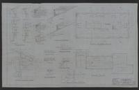 University of Texas Townes Hall (Austin, Tex.): sheet A-8 attic floor plan; roof plan