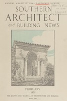 Southern Architect and Building News, Volume 56, no. 2, February 1930