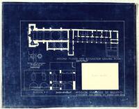 Mission San José y San Miguel de Aguayo: second floor and reflected ceiling plan