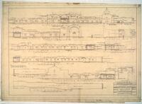 Mission San Francisco de la Espada: restoration drawings, elevations