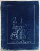 Mission San José y San Miguel de Aguayo: section, church and baptistry