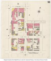 Sanborn Fire Insurance Maps El Paso, Texas, 1908, Sheet 50