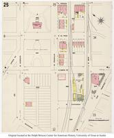 Sanborn Fire Insurance Maps El Paso, Texas, 1908, Sheet 25