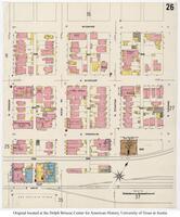 Sanborn Fire Insurance Maps El Paso, Texas, 1908, Sheet 26