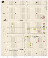Sanborn Fire Insurance Maps El Paso, Texas, 1908, Sheet 23