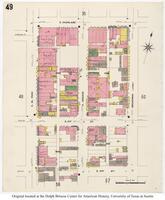 Sanborn Fire Insurance Maps El Paso, Texas, 1908, Sheet 49