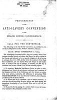 Proceedings of the Anti-Slavery Convention of the Black River Conference
